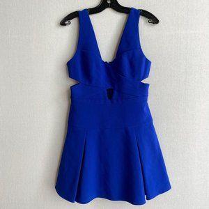 BCBGMAXAZRIA Cut-out Blue Dress
